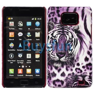 Purple Leopard Animal Print Hard Cover Case Skin for Samgung Galaxy S2