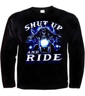 Biker Chopper Longsleeve Langarm T Shirt *94140