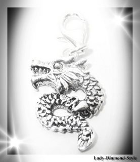 Drache Dragon 3D Charm Anhaenger Bettelarmband Bettelkette Charms 925
