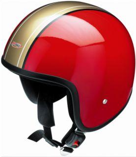 Nostalgie Redbike Jethelm RB 656 Gr. L rot gold kleine Helmschale
