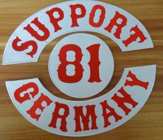 SUPPORT 81   GERMANY   Angels Biker patch brm 666 kutte Nomads