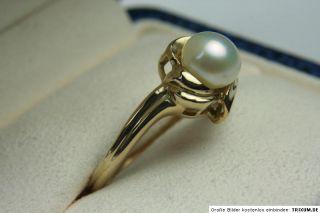 Gold Ring 10 Karat Neu mit Perle