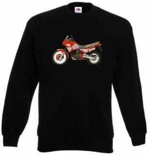 Pullover, Sweatshirt mit Suzuki DR 650 RS 1991 rot