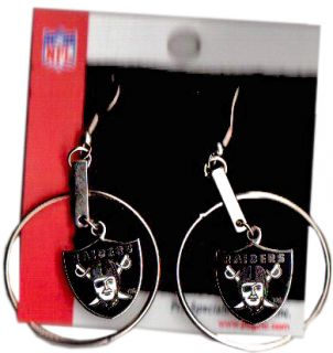 NFL Football OAKLAND RAIDERS Ohrringe Logo