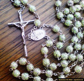 Rosenkranz Filigran Kreuz Fatima Erscheinung Wallfahrt Pilger
