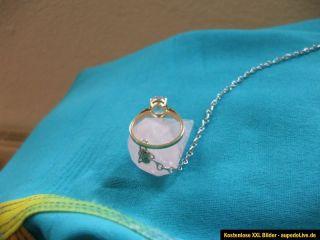 Ring 333 Gold mit Aquamarin, sehr gut erhalten, Nachlass
