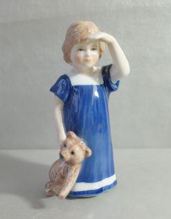 Mädchen mit Teddy Else Mod. 676 1.Wahl Porzellan Figur
