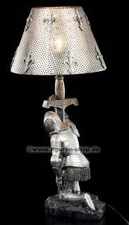 Ritter Tischlampe   Kniend mit Schwert   Figur Statue Lampe Knight