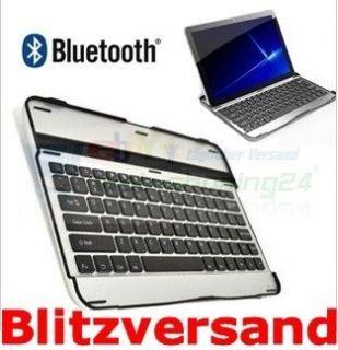 Aluminium Bluetooth Tastatur Keyboard fuer Samsung Galaxy Tab 10 1