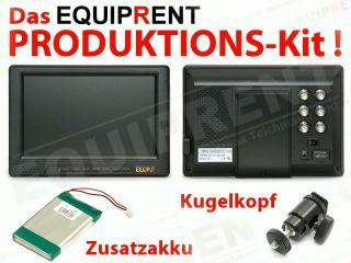LILLIPUT 668GL 70NP HDMI/TFT/LCD Monitor im KIT + Kugelkopf + 2 Akkus