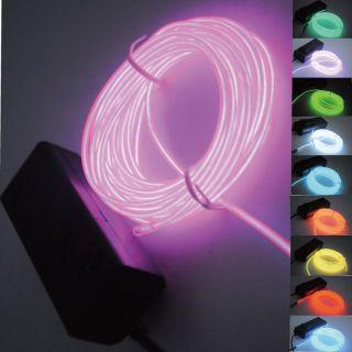1M/2M/3M/5M 10colors EL Wire Neon Light Rope F Party Car Decorati