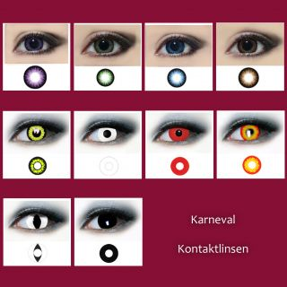 Crazy & Fun Farbige Kontaktlinsen Color Contact lenses T.S