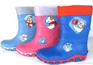 Kinder Mädchen Jungen Gummistiefel Regenstiefel Matschstiefel Winter