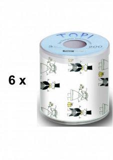 SET 10 HOCHZEIT Toilettenpapier JUST MARRIED
