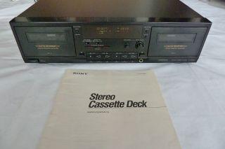 Sony Stereo Cassette Deck TC WR690 Dual Tape Deck Doppelkassettendeck