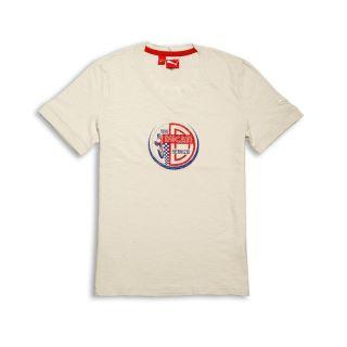 DUCATI Puma VINTAGE AW ´12 kurzarm T Shirt creme weiss NEU 2013
