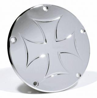 Kupplungsdeckel Derbycover Iron Cross Malteser für Harley Davidson