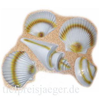 MUSCHEL DEKO SET # Kunststoff Muscheln Meeres Wasser Hawaii Fest