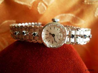 Antik Saphir Silber Armbanduhr Uhr