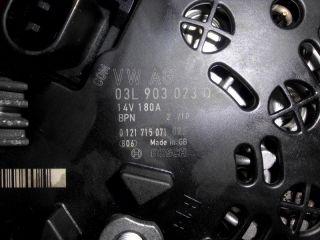 VW Sharan 7N Audi Lichtmaschine SEAT SKODA Generator Stromgenerator