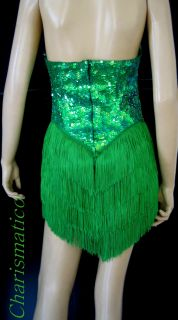 CUSTOM DRAG QUEEN sequin Latin CABARET dance dress