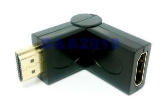 180 Degree Rotation 90 angle HDMI Male   Female Adapter