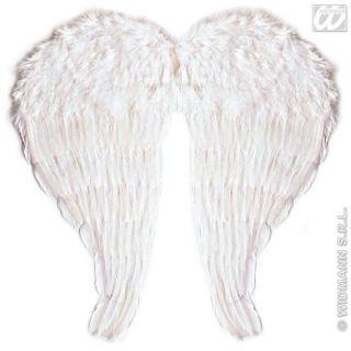 Engelsflügel für Kinder weiß mit Federn zum Kostüm Engel
