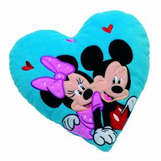 Disney Mickey Mouse und Minnie herzförmiges Kuschelkissen Plüsch