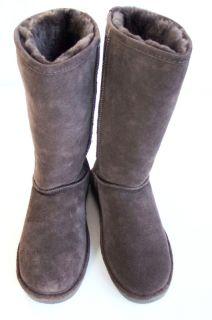 Lammfell Stiefel Gr.38 EVA tall sheepskin boots Braun HEDGEHOG