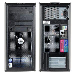 Dell Optiplex 755 Tower Dual Core 2x2,6 Ghz 2048MB 80GB DVD Brenner