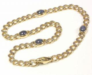 585 14kt Goldarmband Panzerarmband Gold Saphir Armband Goldarmband
