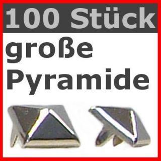 100 Pyramiden NIETEN große Pyramidennieten Gothic Punk