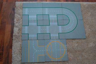 Lego City Strassenplatten 8er Platten Strassen Set Kurven Kreuzung