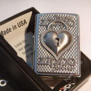 Zippo Feuerzeug, Heart Forever, 3 D Relief Emblem, NEU, OVP
