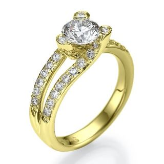 82 Carat D/SI Solitar Diamantring Brillant Ring 18kt 750 Weißgold