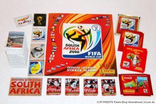 Panini WC WM 2010 South Africa – KOMPLETTSATZ + ALBUM GERMANY + 4