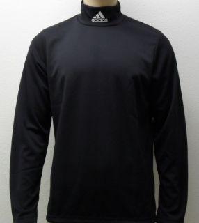 Adidas STAND UP Langarm Shirt Rollkragen Pullover Rolli in schwarz