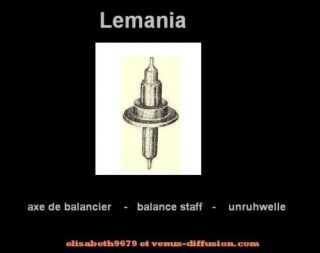axe 723 staff balance unruhwelle Lemania 3610