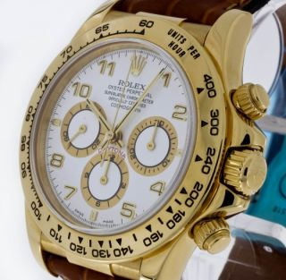 Perpetual Daytona Chronograph 750/Gold Lederband Ref.16518