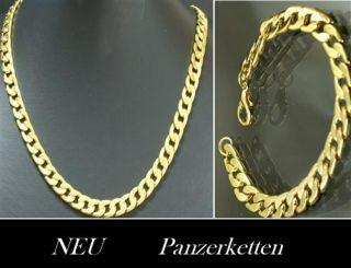 Neu Luxus Gold Panzer Halskette o. Panzer Armband o. Herren Schmuck