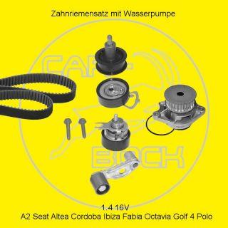 Zahnriemensatz + Wasserpumpe 1.4 16V AUDI A2 SEAT Ibiza SKODA Fabia VW