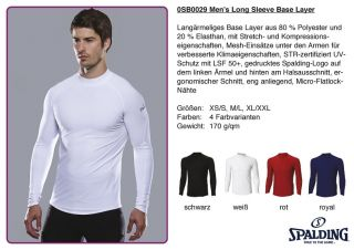0SB0029 Men`s Long Sleeve Base Layer Funktionsshirt laufen Shirt lang