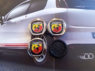 ABARTH Radnabendeckel FIAT GRANDE PUNTO PANDA 500 600 wheels hub caps