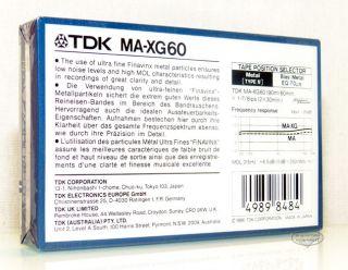 TDK MA XG 60 aus 1986 metal position Typ IV MC Kassette cassettes tape