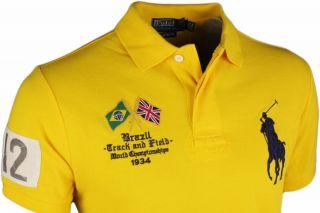 Polo Ralph Lauren Polo Shirt uni gelb NEU Gr. M   XXL Poloshirt