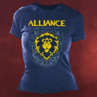 World of Warcraft Allianz Crest 3 Girlie Shirt