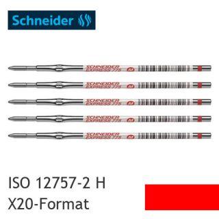 5x Kugelschreibermine _ Schneider Express 775 _ M _ Rot