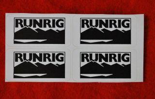 Aufkleber/Sticker   4 Stück   Runrig schottische Kultband