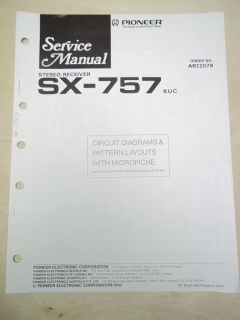 Pioneer Service Manual~SX 757 Receiver~Original~Repair~w/fiche
