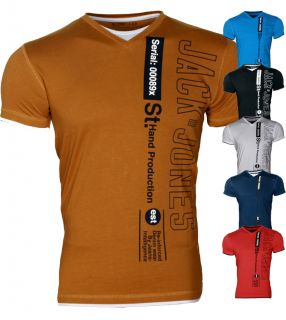 Jack & Jones T Shirt Hemd SUNDOWN TEE 2012 Slim Fit 4 Farben Gr.S